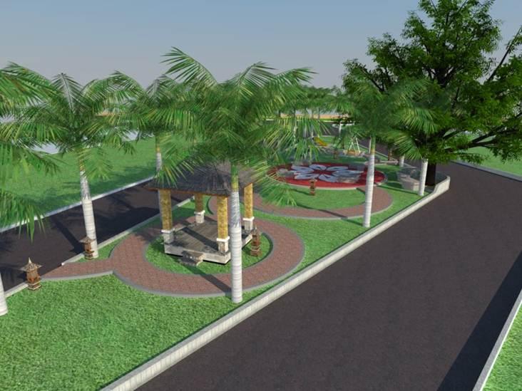 Desain Gerbang Dan Taman   Thetamandhikacinere
